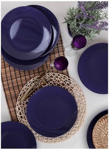 Keramika Servis Tabağı Mor